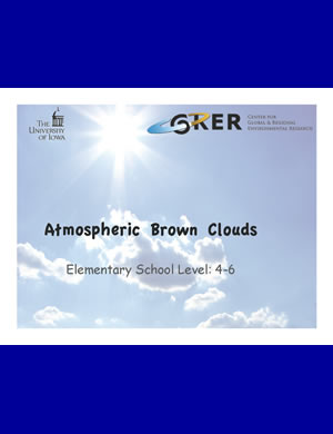 PDF about Atmospheric Brown Clouds for 4th-6th graders