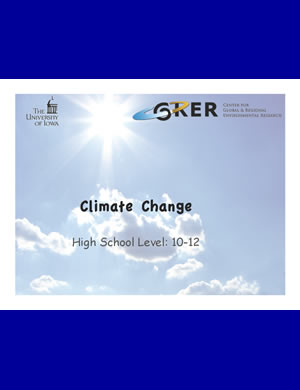 PDF about Climate change for 10th-12th graders