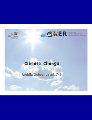 PDF about Climate change for 7th-9th graders