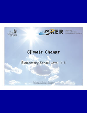 PDF about Climate change for K-6th graders