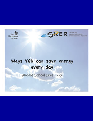 PDF about energy saving for 7th-9th graders