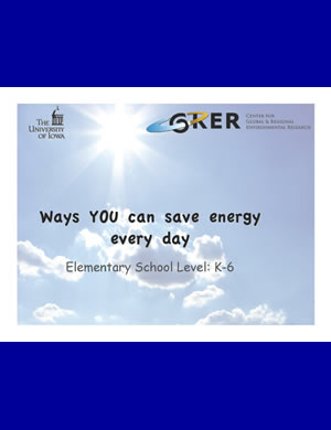 PDF about energy saving for K-6th Graders